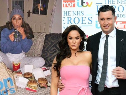 Vicky Pattison drinks gin and chows down on McDonald's to relive her break up as reality show airs