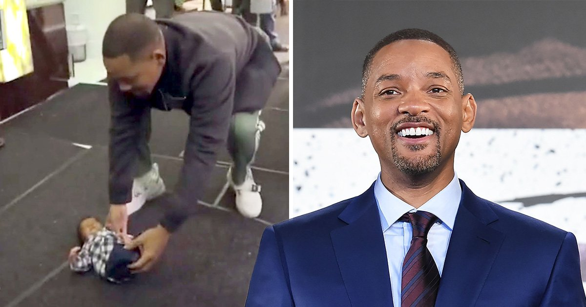 Will Smith pranks fans as he 'drops baby' on set of Bad Boys 3