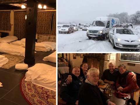 Cornish hospitality at its finest as 100 stranded drivers find safety in pub