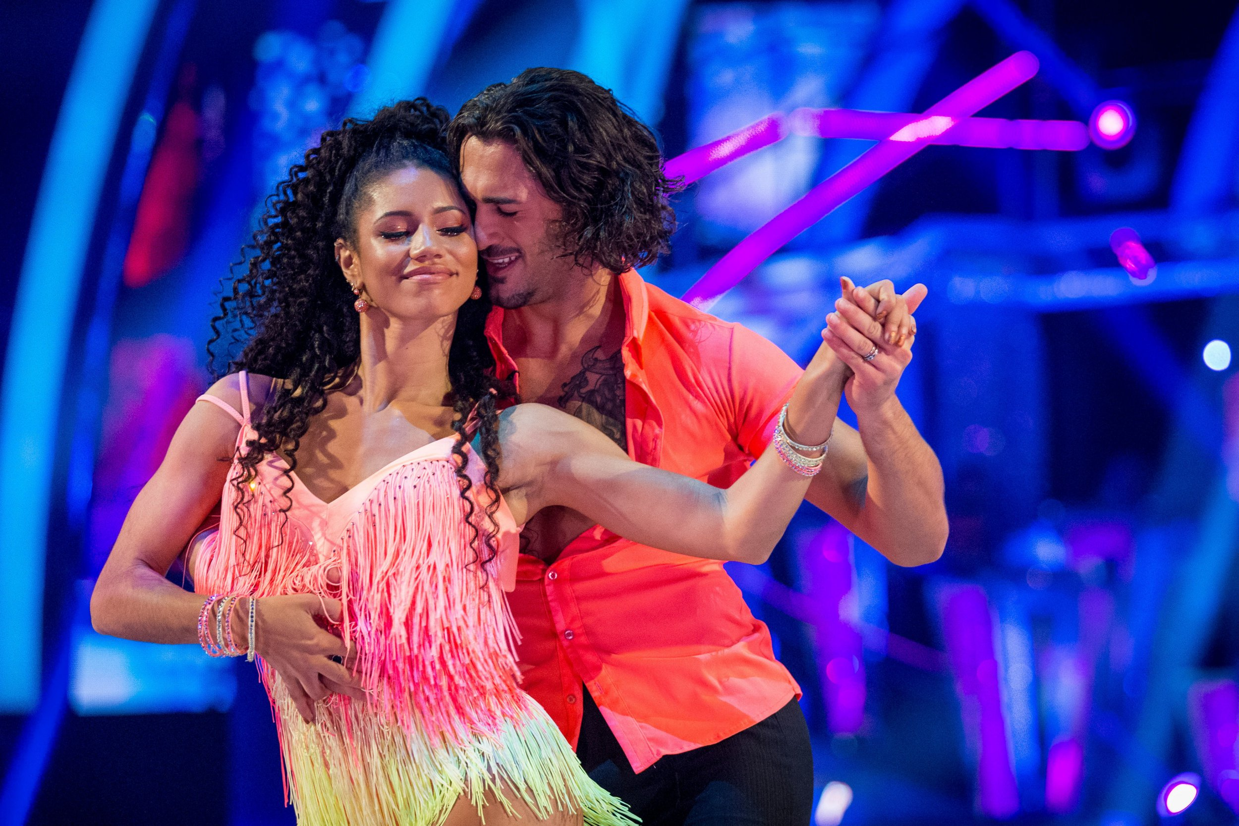 EMBARGOED TO 2035 SATURDAY OCTOBER 20 For use in UK, Ireland or Benelux countries only BBC handout photo of Vick Hope and her dance partner Graziano Di Prima during the dress rehearsal for Saturday's live show for the BBC1 dance programme, Strictly Come Dancing. PRESS ASSOCIATION Photo. Picture date: Saturday October 20, 2018. See PA story SHOWBIZ Strictly. Photo credit should read: Guy Levy/BBC/PA Wire NOTE TO EDITORS: Not for use more than 21 days after issue. You may use this picture without charge only for the purpose of publicising or reporting on current BBC programming, personnel or other BBC output or activity within 21 days of issue. Any use after that time MUST be cleared through BBC Picture Publicity. Please credit the image to the BBC and any named photographer or independent programme maker, as described in the caption.