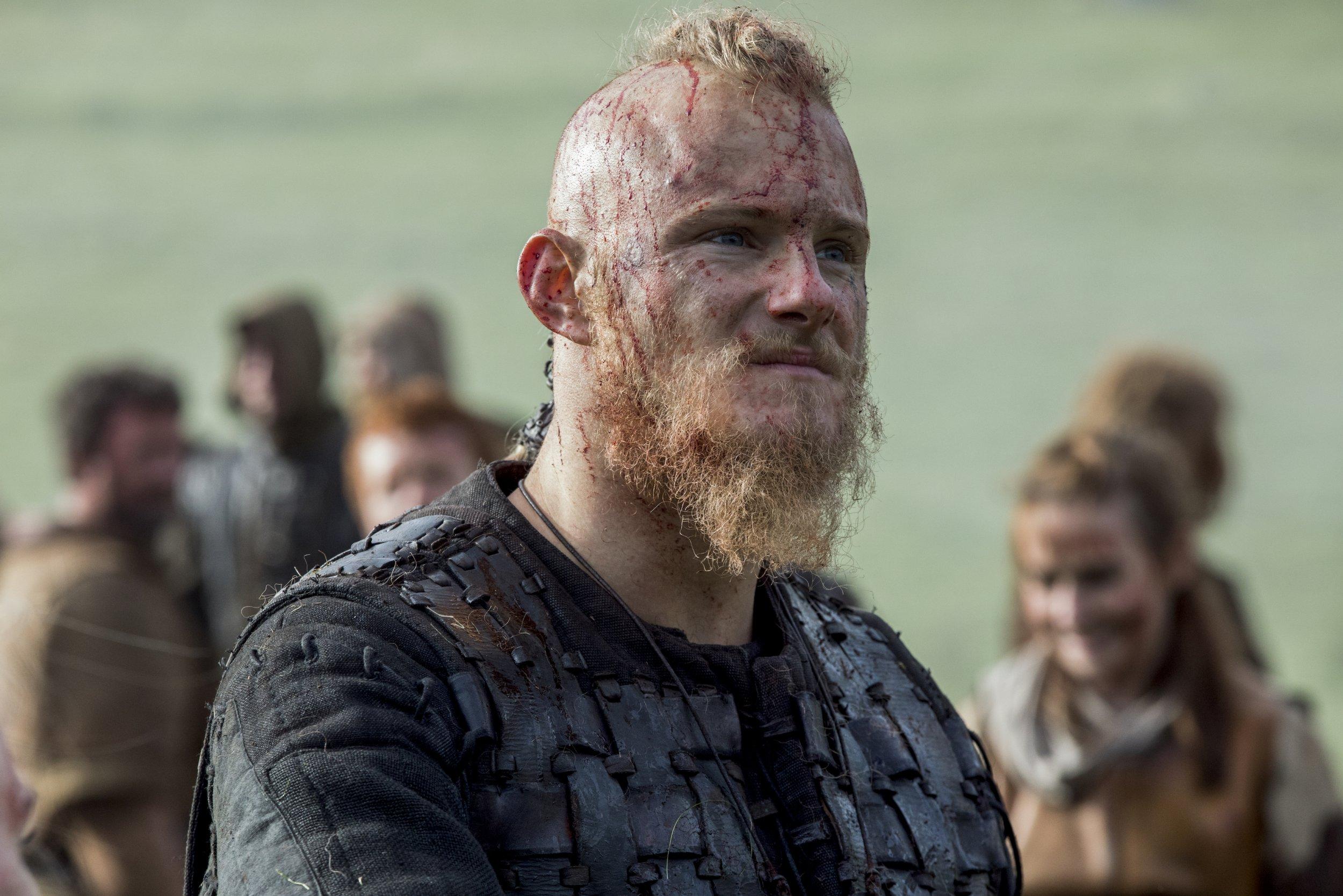 Alexander Ludwig as Bjorn in Vikings (Picture: History)