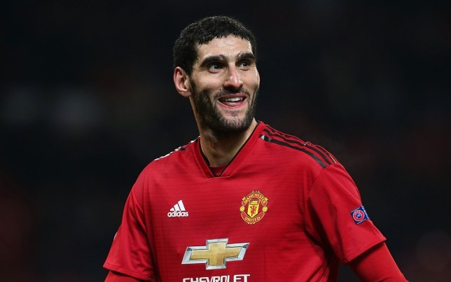 MANCHESTER, ENGLAND - NOVEMBER 27: Marouane Fellaini of Manchester United walks off after the Group H match of the UEFA Champions League between Manchester United and BSC Young Boys at Old Trafford on November 27, 2018 in Manchester, United Kingdom. (Photo by Matthew Peters/Man Utd via Getty Images)