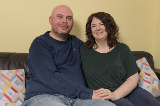 Pic by Michael Scott/Caters News - (PICTURED: Husband and wife, Matt 43 and Claire Daly 34 from Coventry. Claire thought early signs of blood cancer was jetlag on a holiday to Disney World, Orlando. Pic taken: 13/12/2018) - A thrillseeker claims her deadly cancer was misdiagnosed as JETLAG during a dream holiday to Florida. Claire Daly was just days into the once in a lifetime break to Florida with husband Matt in September 2015 when she began to feel tired and unwell. Dismissing her symptoms as jetlag, Claire spent nearly two weeks of the trip feeling poorly before she finally went to a US hospital where she allegedly was told her tiredness probably was to blame. SEE CATERS COPY