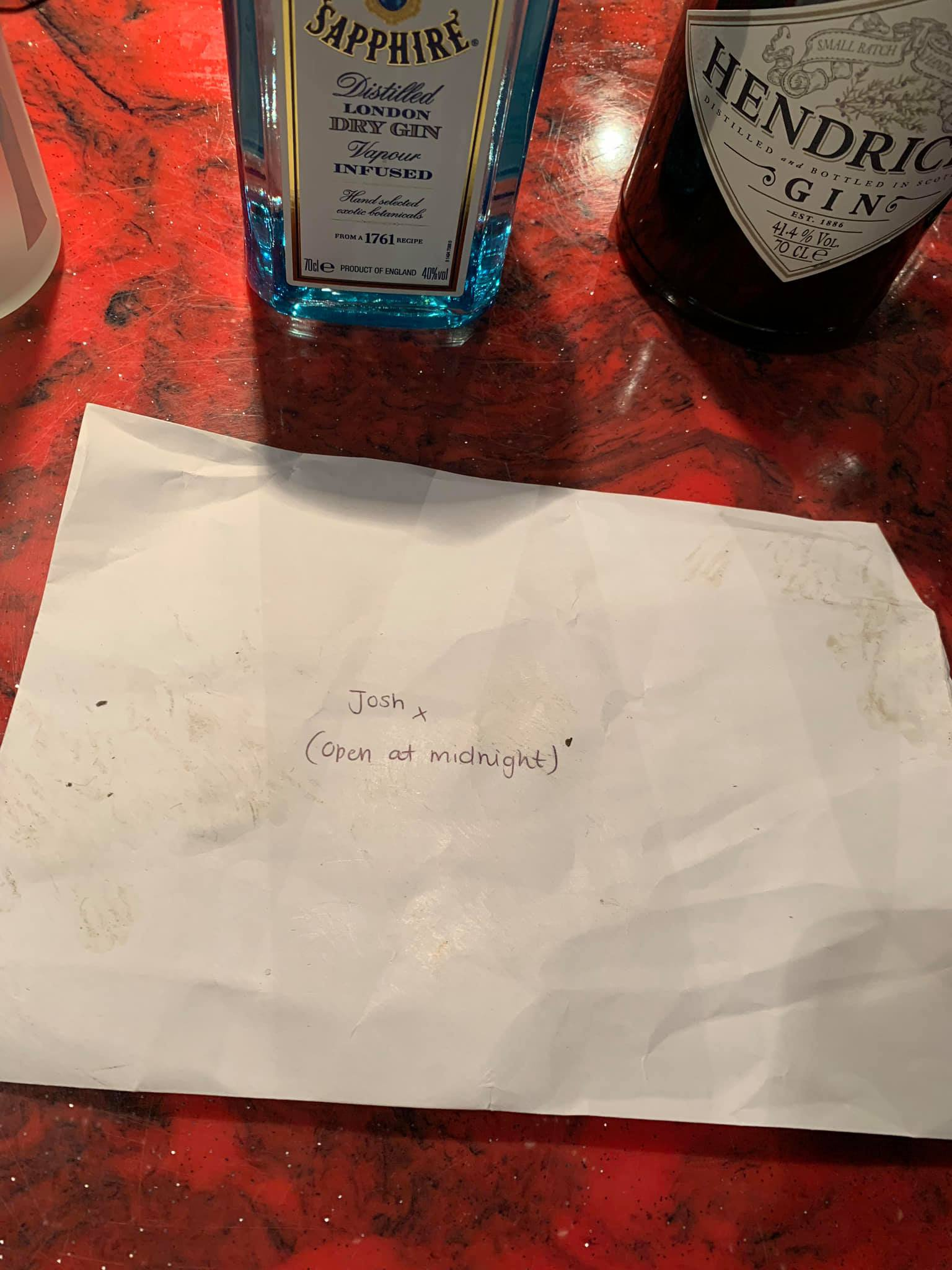 - Picture of the facebook post by Pryzm nightclub in Nottingham showing a crude poem announcing her pregnancy TRIANGLE NEWS 0203 176 5581 // contact@trianglenews.co.uk By Rosaleen Fenton A woman?s crude poem announcing that she?s pregnant has gone viral after it ended up on the floor of a nightclub unopened. Now the Nottingham nightclub is seeking the man, known as Josh, in a bid to reunite him with the announcement...where the woman jokes that he should have ?stuck it in her bum.? The cheekily penned note has gone viral after the club uploaded the letter to social media after cleaners found it on the floor. *Full copied filed via the wires/Triangle News* *TRIANGLE NEWS DOES NOT CLAIM ANY COPYRIGHT OR LICENSE IN THE ATTACHED MATERIAL. ANY DOWNLOADING FEES CHARGED BY TRIANGLE NEWS ARE FOR TRIANGLE NEWS SERVICES ONLY, AND DO NOT, NOR ARE THEY INTENDED TO, CONVEY TO THE USER ANY COPYRIGHT OR LICENSE IN THE MATERIAL. BY PUBLISHING THIS MATERIAL , THE USER EXPRESSLY AGREES TO INDEMNIFY AND TO HOLD TRIANGLE NEWS HARMLESS FROM ANY CLAIMS, DEMANDS, OR CAUSES OF ACTION ARISING OUT OF OR CONNECTED IN ANY WAY WITH USER'S PUBLICATION OF THE MATERIAL*