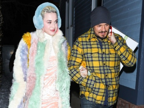 Katy Perry and technicolour coat go on romantic date with Orlando Bloom as romance blossoms