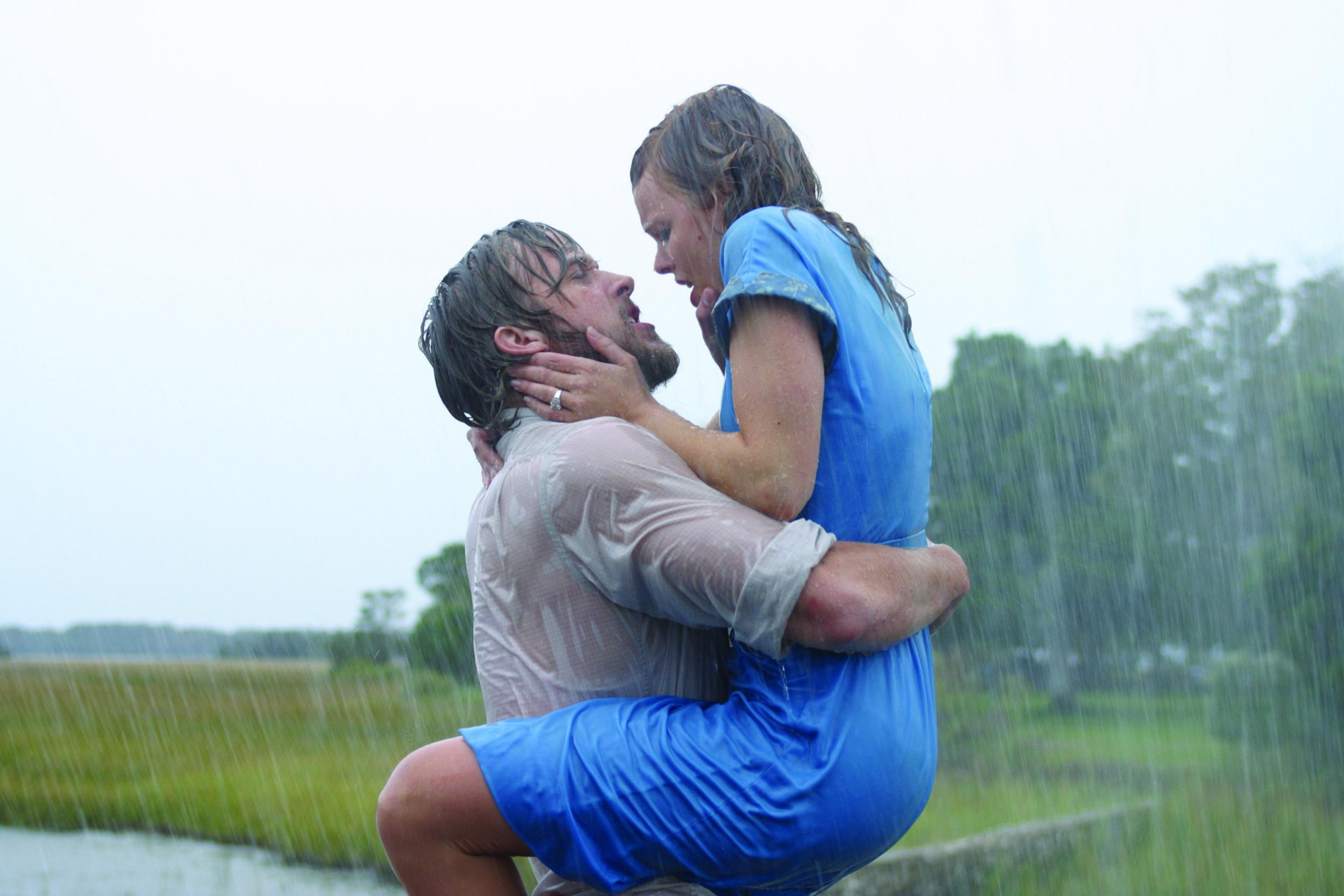 "Editorial use only. No book cover usage. Mandatory Credit: Photo by Snap Stills/REX/Shutterstock (2168818f) Ryan Gosling (left) stars as ""Noah"" and Rachel McAdams (right) stars as ""Allie"" The Notebook. - 2004"