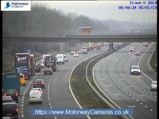 M5 closed in both directions after fatal collision between