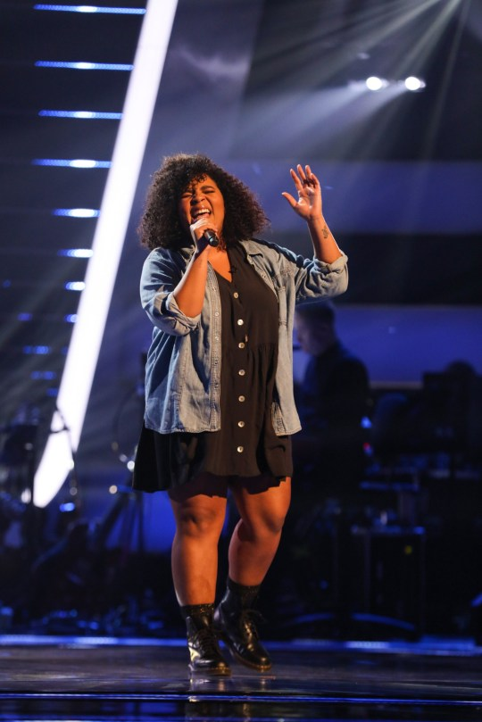 This image is strictly embargoed until 22.30 Friday 4th January 2019 From ITV Studios The Voice UK: SR3: Ep1 on ITV Pictured: Nicole Dennis performs. This photograph is (C) ITV Plc and can only be reproduced for editorial purposes directly in connection with the programme or event mentioned above, or ITV plc. Once made available by ITV plc Picture Desk, this photograph can be reproduced once only up until the transmission [TX] date and no reproduction fee will be charged. Any subsequent usage may incur a fee. This photograph must not be manipulated [excluding basic cropping] in a manner which alters the visual appearance of the person photographed deemed detrimental or inappropriate by ITV plc Picture Desk. This photograph must not be syndicated to any other company, publication or website, or permanently archived, without the express written permission of ITV Picture Desk. Full Terms and conditions are available on the website www.itv.com/presscentre/itvpictures/terms For further information please contact: james.hilder@itv.com / 0207 157 3052