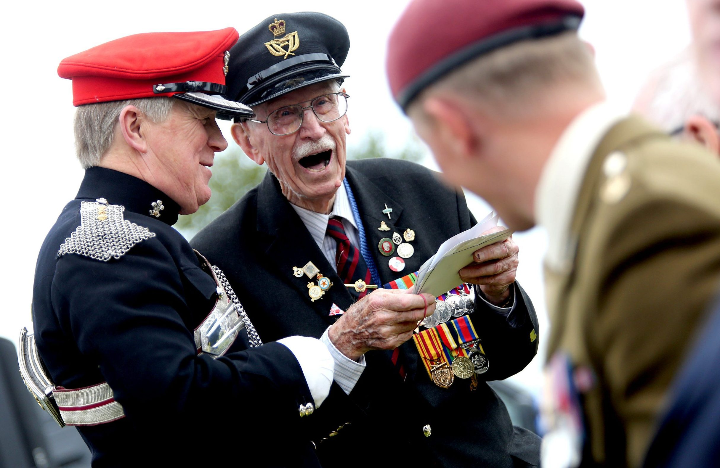 BNPS.co.uk (01202 558833) Pic: BournemouthEcho/BNPS Dunkirk veteran Arthur Taylor at the annual Burton Armed Forces and Veterans Day event parade and service at the village green in Burton in 2015. One of the last veterans of the Dunkirk evacuation has died aged 98. Arthur Taylor was one of the 330,000 men rescued from the beaches of the French town after he survived nearly two days of being dive-bombed by German planes. The RAF radio operator witnessed comrades stood next to him cut down by machine gun fire from the low-flying enemy aircraft. Arthur, from Christchurch, Dorset, channelled the famous 'Dunkirk Spirit' to rejoin the war effort and played his part in the crucial Battle of Britain three months later. In his latter years he advised director Christopher Nolan on the 2017 movie Dunkirk.