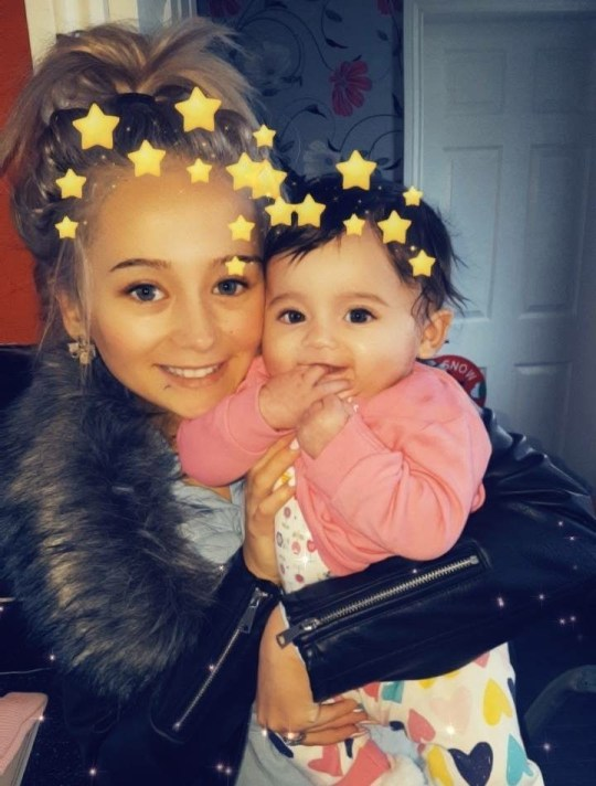 """A single teenage mum says her """"baby daughter could die"""" in her mouldy bedroom after sleeping on a """"green mattress"""". Louise Sillitoe, 19, said she was even forced to sleep in her living room on Christmas Day because the bedrooms in her council flat were covered in black mould. Caption: Louise Sillitoe, 19, said she was even forced to sleep in her living room on Christmas Day"""