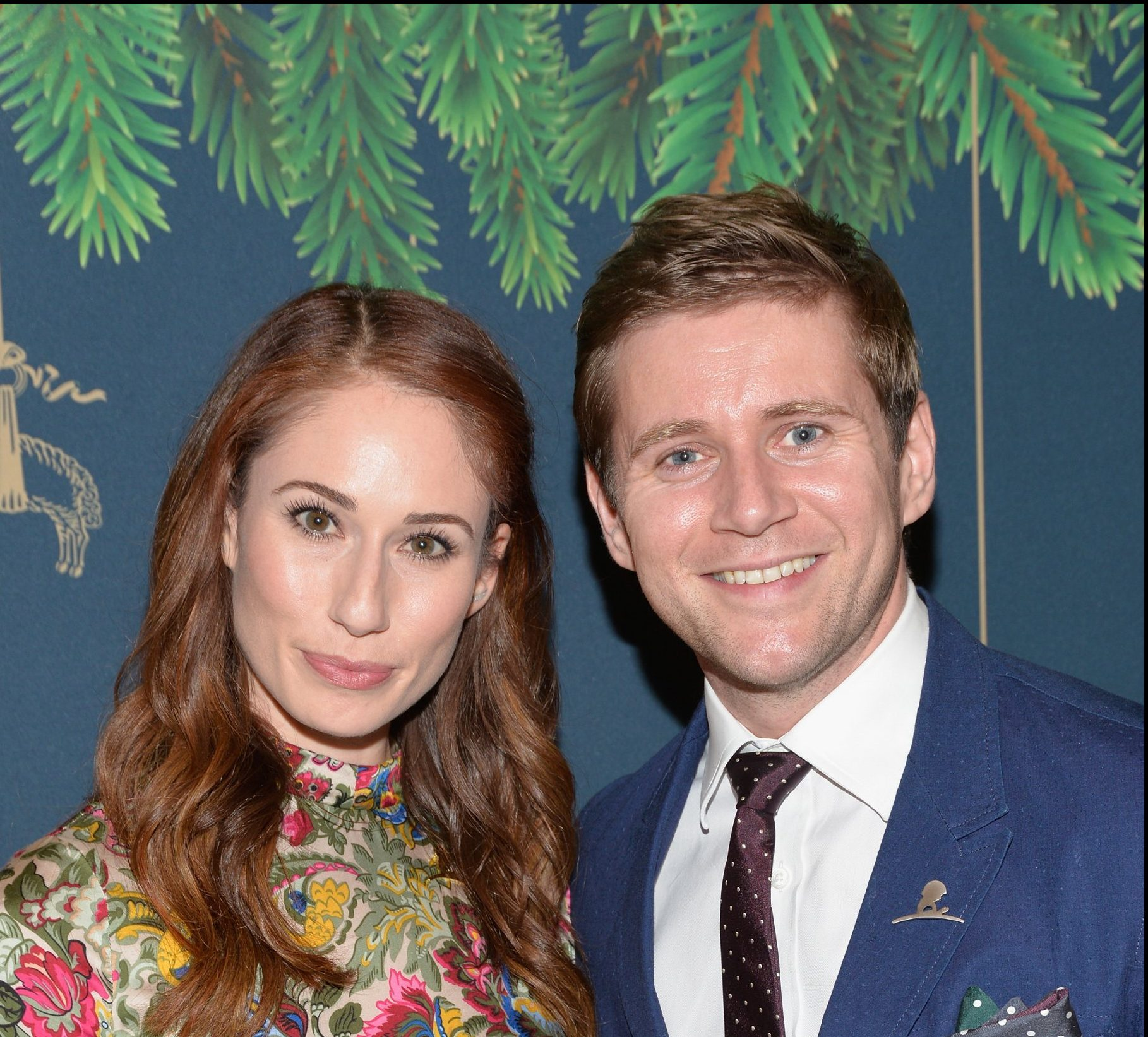 BEVERLY HILLS, CA - DECEMBER 02: Jessica Blair Herman and Allen Leech attend the Brooks Brothers holiday celebration with St Jude Children's Research Hospital at Brooks Brothers Rodeo on December 2, 2017 in Beverly Hills, California. (Photo by Michael Tullberg/Getty Images)