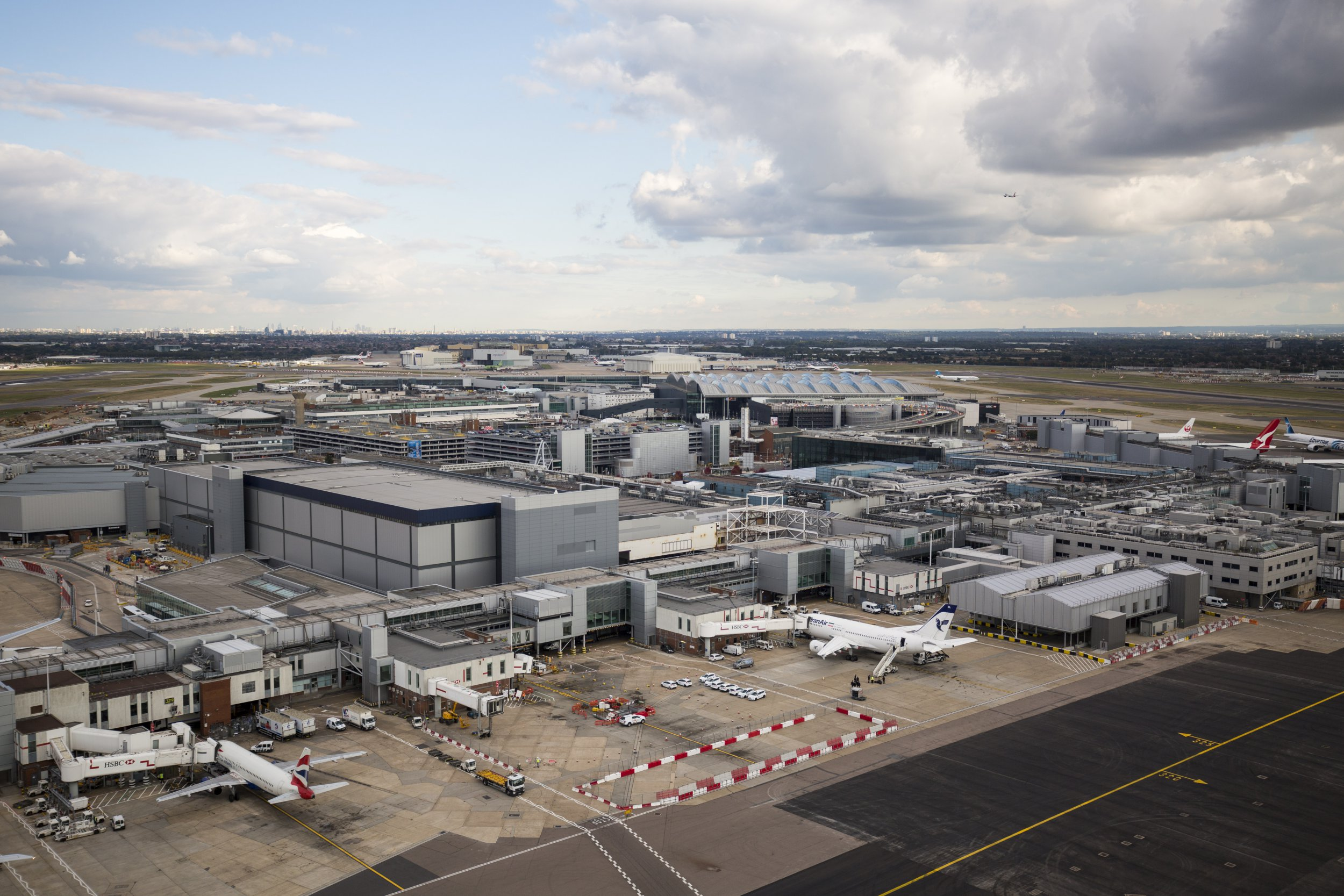 LONDON, ENGLAND - OCTOBER 11: A general view of Terminals 1 & 2 at Heathrow Airport on October 11, 2016 in London, England. The UK government has said it will announce a decision on airport expansion soon. Proposals include either a third runway at Heathrow, an extension of a runway at the airport or a new runway at Gatwick Airport. (Photo by Jack Taylor/Getty Images)