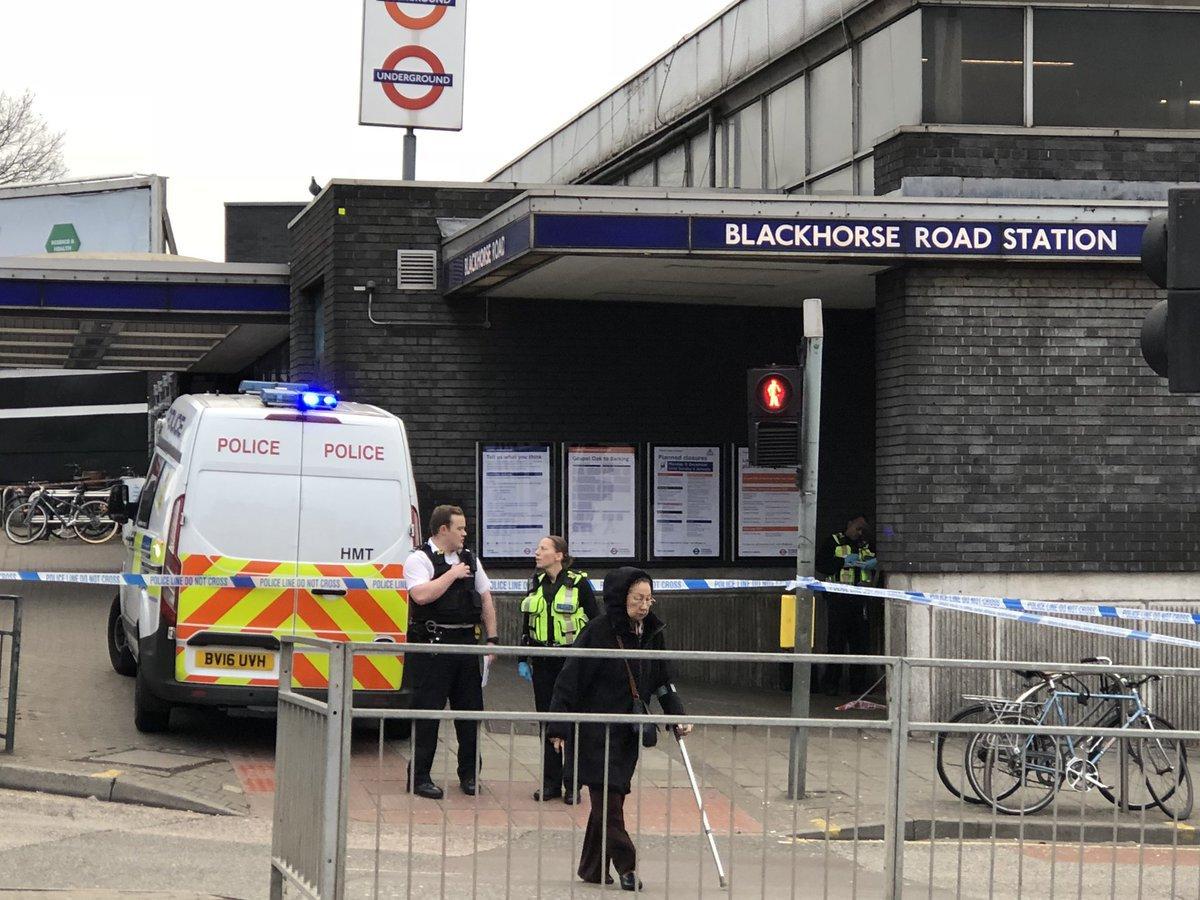 METRO GRAB VIA TWITTER W/ PERMISSION Stabbing suspected at Blackhorse Road tube station, East London https://twitter.com/flyinglawyer73/status/1081933697010581504