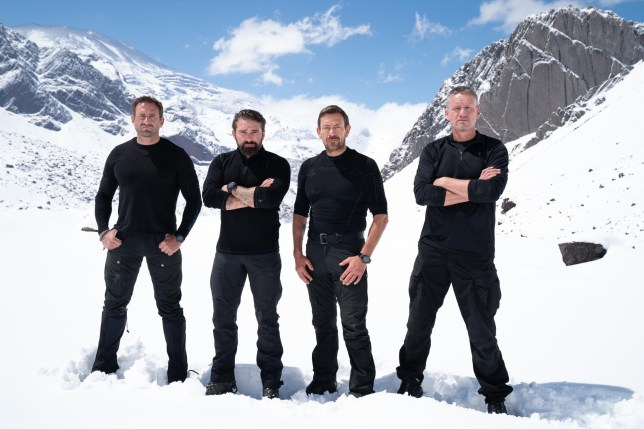 Jason Fox, Ant Middleton, Foxy and Billy from SAS Who Dares Wins