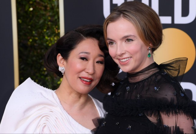 Mandatory Credit: Photo by David Fisher/REX (10048065ac) Sandra Oh and Jodie Comer 76th Annual Golden Globe Awards, Arrivals, Los Angeles, USA - 06 Jan 2019