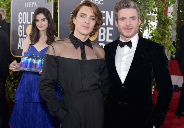 LOS ANGELES, CA - JANUARY 06: Cody Fern (L) and Richard Madden attend FIJI Water at the 76th Annual Golden Globe Awards on January 6, 2019 at the Beverly Hilton in Los Angeles, California. (Photo by Stefanie Keenan/Getty Images for FIJI Water)