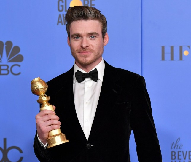 Mandatory Credit: Photo by Rob Latour/REX (10048070b) Richard Madden - Best Actor in a TV Series, Drama - 'Bodyguard' 76th Annual Golden Globe Awards, Press Room, Los Angeles, USA - 06 Jan 2019