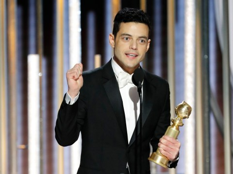 Golden Globes 2019: Rami Malek thanks 'gorgeous' Freddie Mercury as he prepares to 'jump all over' cast mates
