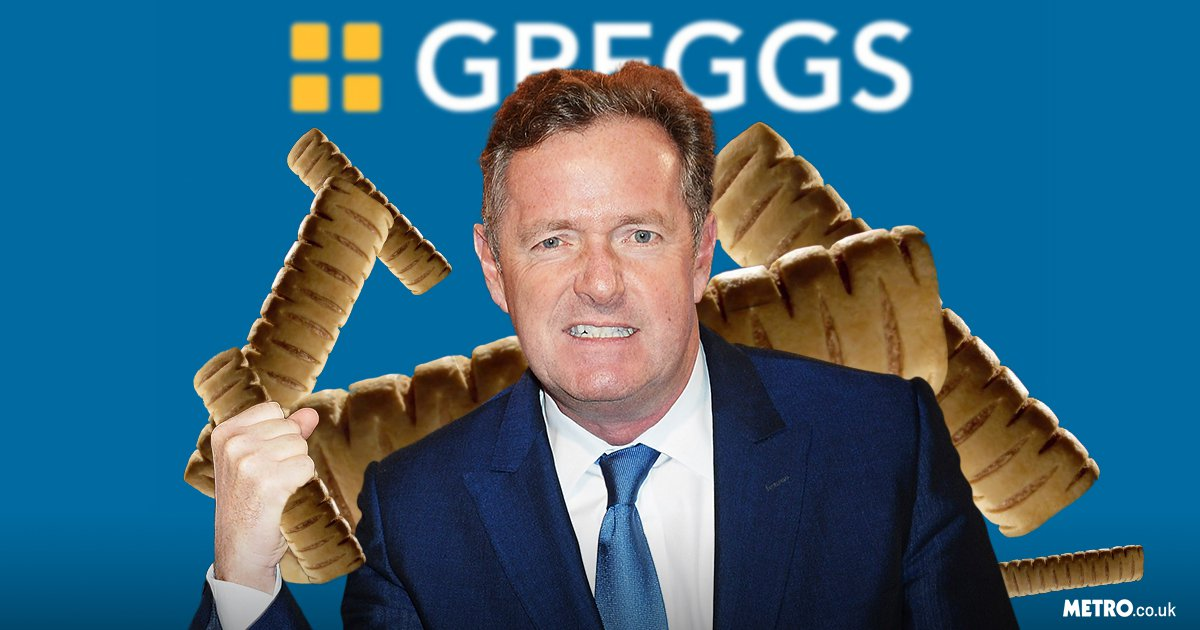 Picture: Getty, Greggs Piers Morgan in clash with Greggs on vegan sausage rolls