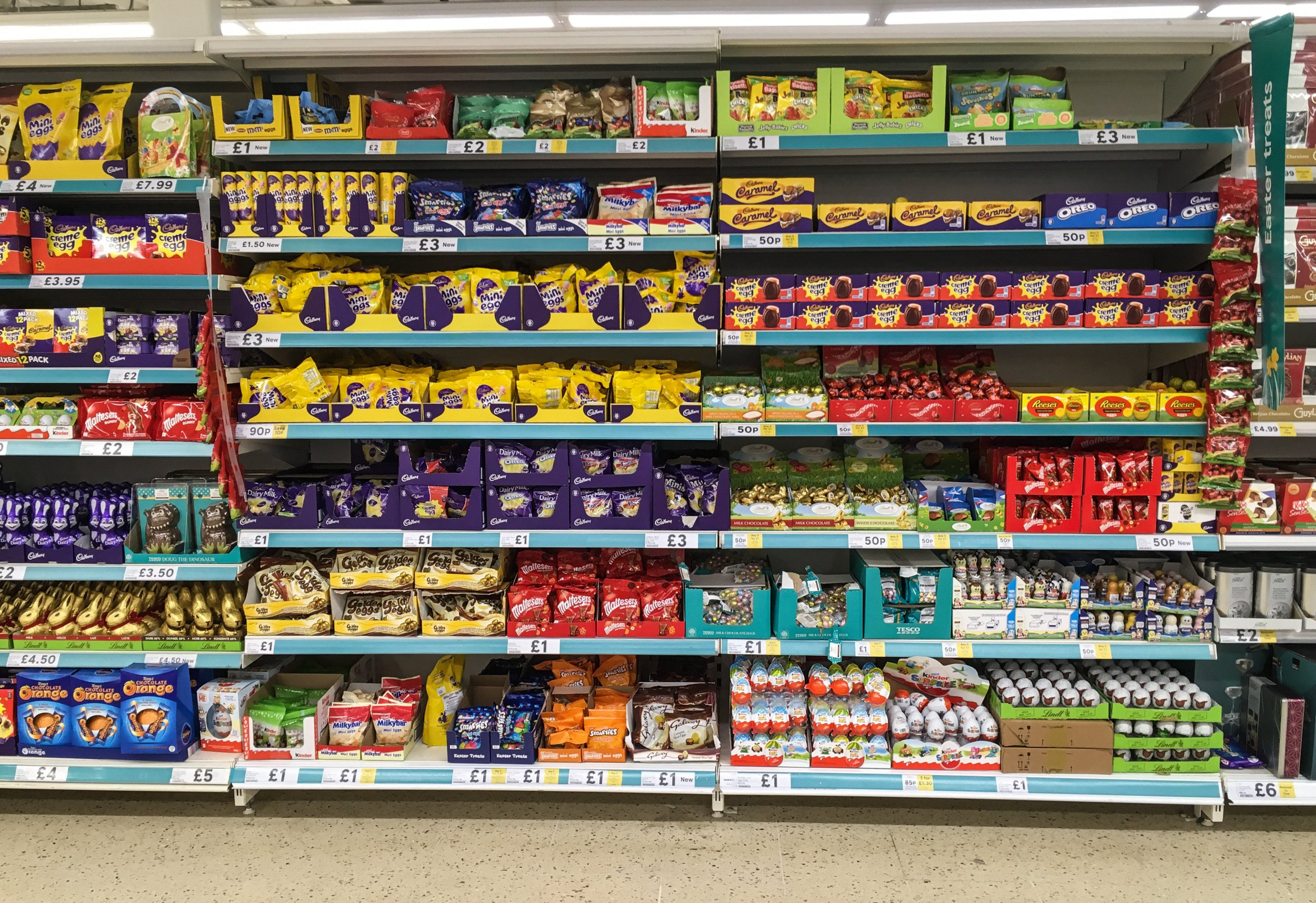 """Easter comes early to shops across the UK - These Easter eggs found a Tesco's in Leeds. Supermarkets are already stacking their shelves with Easter eggs - just days after Christmas decorations have come down. See story SWSYeaster. Easter may be more than three months away but shops have already got a spring in their step for making the most of seasonal sales. Tesco, Marks and Spencer and the Co-Op are among a handful of major retailers who have already started selling chocolate Easter Eggs. Baffled shoppers have taken to social media to post photographs of chocolate eggs, bunnies and gift sets, that are already on sale ahead of Easter Sunday on April 21. One shopper spotted chocolate treats on sale at a Marks and Spencer store in Devon on New Year's Eve, less than a week after Christmas. Eggs have also been spotted in a Tesco store in Beeston, Nottingham, and Gateshead, a Co-op store in Dartford and several Sainsbury's stores. Easter is more than 100 days away and chocolate eggs will likely be on sale for around a third of the whole of 2019. On Twitter, Jo Carter (@jocarter2) wrote: """"Your eyes do not deceive you... these are Easter eggs on the shelf."""" John Connor (@John_Connor01), tweeted the Co-op to ask """"Just how big the demand for Easter eggs is in January?"""", after spotting eggs on sale on Sunday (January 6)."""