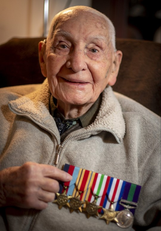 Undated handout photo issued by the Ministry of Defence of Glyn Gurner, a Second World War veteran who lost his medals 70 years ago and has had them replaced as a gift on his 100th birthday. PRESS ASSOCIATION Photo. Issue date: Tuesday January 8, 2019. Former sergeant Glyn Gurner served in the Royal Welch Fusiliers in Crete, North Africa, Italy and Palestine for 10 years from 1936. See PA story WAR Medals. Photo credit should read: Corporal Tom Evans/MoD/Crown Copyright/PA Wire NOTE TO EDITORS: This handout photo may only be used in for editorial reporting purposes for the contemporaneous illustration of events, things or the people in the image or facts mentioned in the caption. Reuse of the picture may require further permission from the copyright holder.