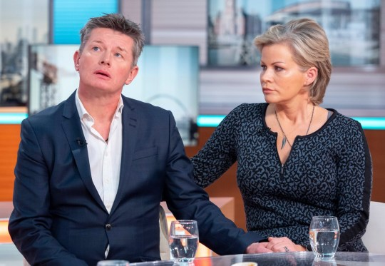 Editorial use only Mandatory Credit: Photo by Ken McKay/ITV/REX (10053178b) Richard Mason and Emma Louise 'Good Morning Britain' TV show, London, UK - 10 Jan 2019