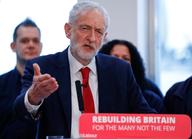 Jeremy Corbyn, leader of the Labour Party, reacts as he speaks on Brexit in Wakefield, Britain, January 10, 2019. REUTERS/Phil Noble
