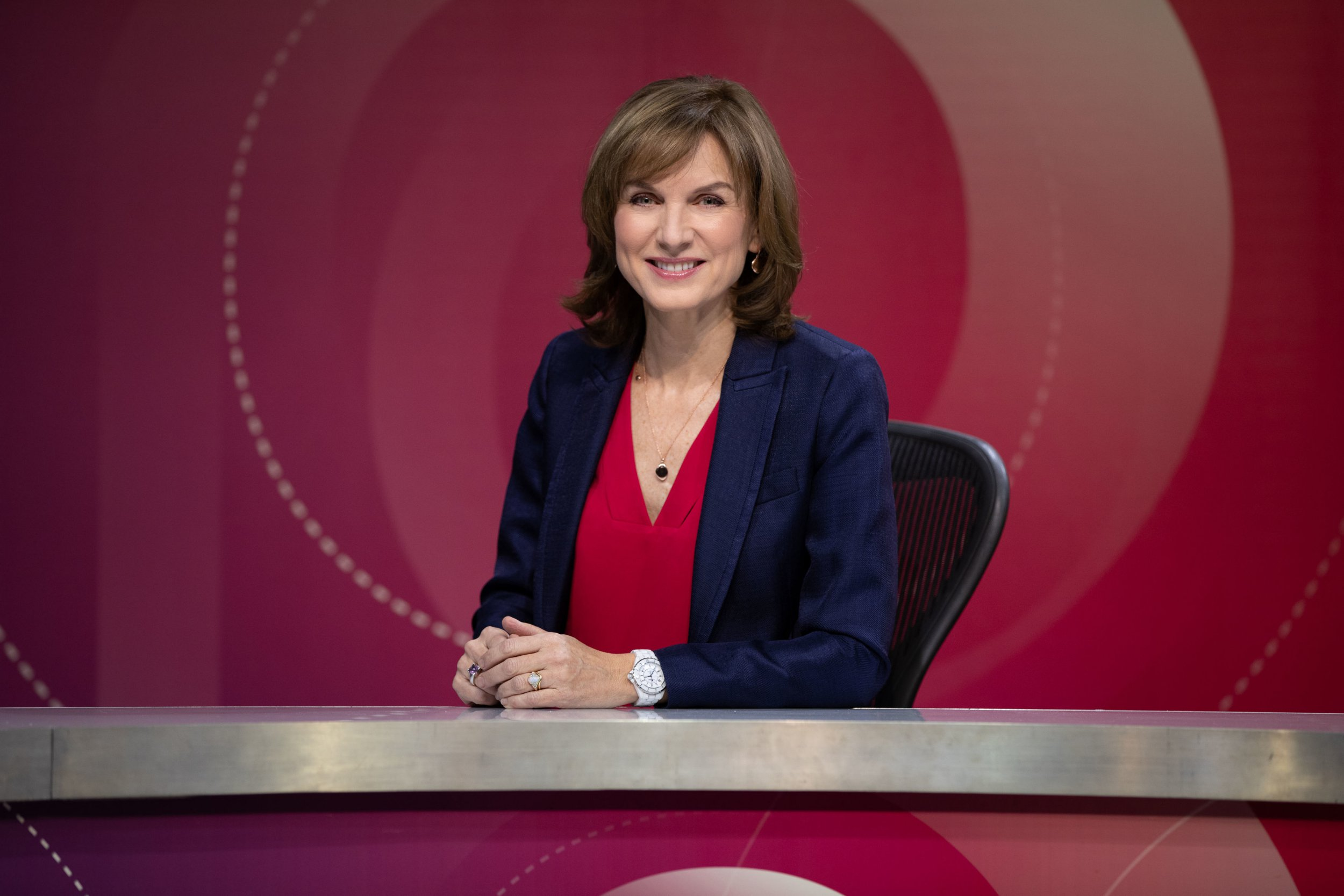For use in UK, Ireland or Benelux countries only BBC handout photo of Fiona Bruce on the set of Question Time as she takes over as host for the programme. PRESS ASSOCIATION Photo. Issue date: Thursday January 10, 2019. The news broadcaster and Antiques Roadshow presenter was announced as David Dimbleby's replacement on the political programme in December when he stepped down. See PA story SHOWBIZ Bruce. Photo credit should read: Richard Lewisohn/BBC/PA Wire NOTE TO EDITORS: Not for use more than 21 days after issue. You may use this picture without charge only for the purpose of publicising or reporting on current BBC programming, personnel or other BBC output or activity within 21 days of issue. Any use after that time MUST be cleared through BBC Picture Publicity. Please credit the image to the BBC and any named photographer or independent programme maker, as described in the caption.