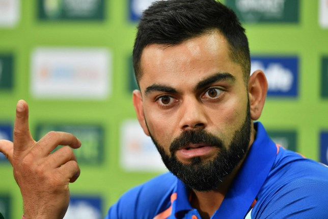 India's cricket captain Virat Kohli speaks during a press conference ahead of the first one-day international (ODI) match between India and Australia at the Sydney Cricket Ground in Sydney on January 11, 2019. (Photo by SAEED KHAN / AFP) / --IMAGE RESTRICTED TO EDITORIAL USE - STRICTLY NO COMMERCIAL USE--SAEED KHAN/AFP/Getty Images