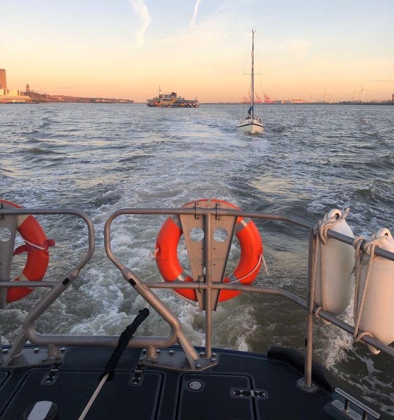 Picture: RNLI Mysterious yacht drifts into Liverpool