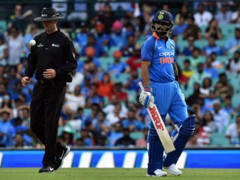 Virat Kohli reacts after India lose first ODI against Australia despite Rohit Sharma century