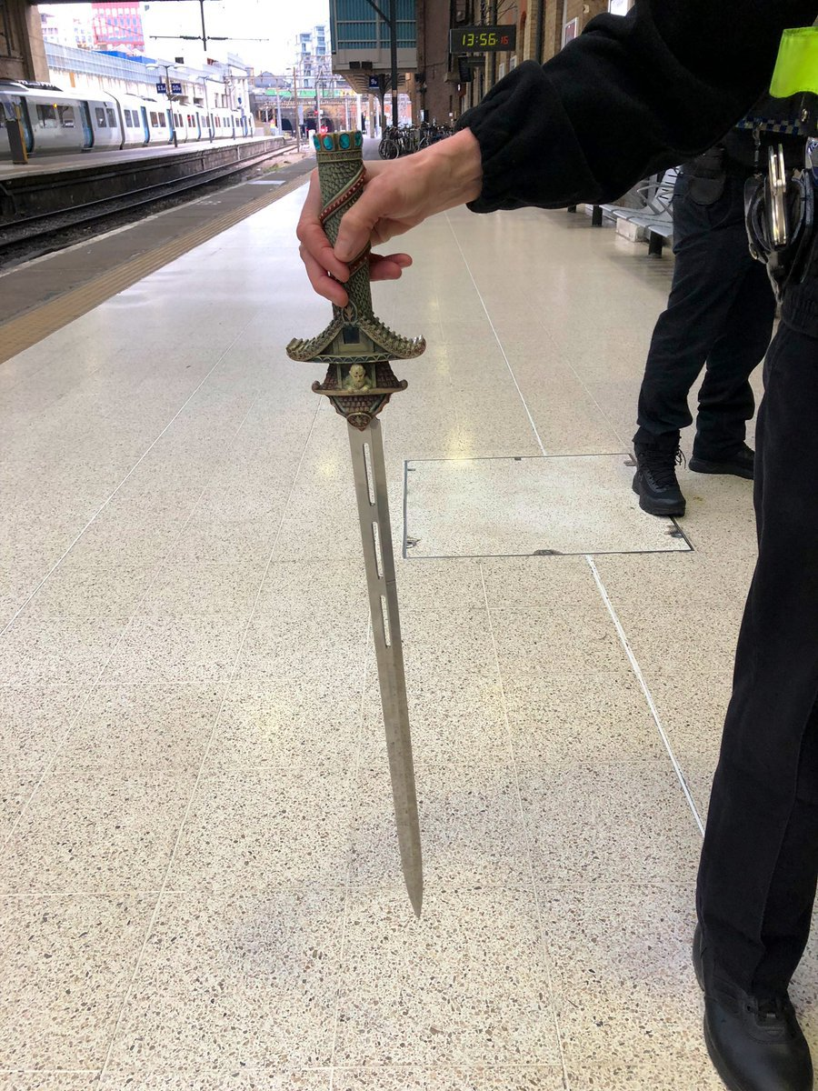METRO GRAB TWITTER BTP KingsC&StPancras ??? Verified account @BTPKingsCross 35m35 minutes ago More Officers were called to Kings Cross earlier and removed a 15 year old Male off a @GNRailUK service. This was concealed down his trouser leg ????Arrested & currently being dealt with in custody. https://twitter.com/BTPKingsCross/status/1084108310096302082