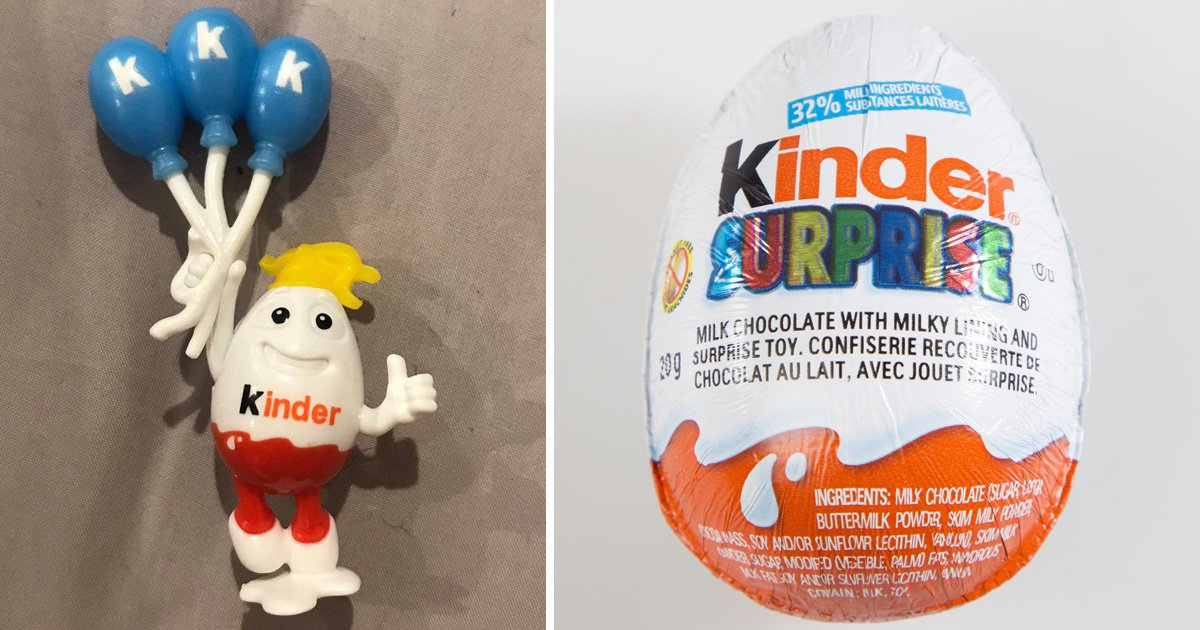 Parents horror at Kinder Egg toys with 'Donald Trump hair' holding 'KKK balloons'
