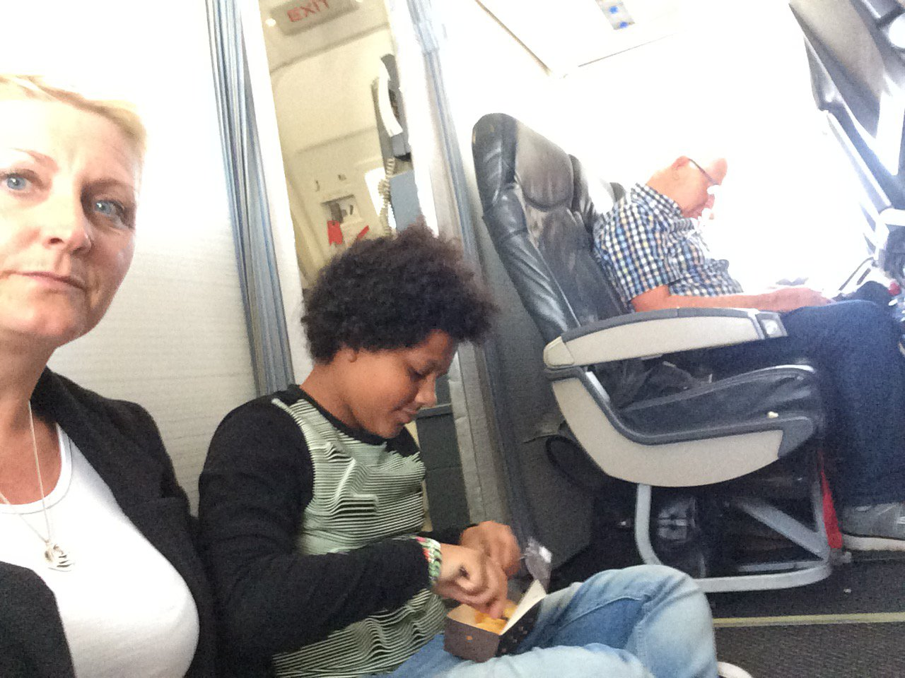Paula Taylor and daughter forced to sit on the floor for their two hour TUI flight after discovering their seats didn't exist after boarding the plane from Menorca PAULA TAYLOR