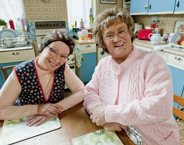 Television Programme: Mrs Brown?s Boys. L-R Winnie McGoogan (EILISH O'CARROLL), Agnes Brown (BRENDAN O'CARROLL). Programme Name: Mrs Brown's Boys - TX: n/a - Episode: n/a (No. 4) - Embargoed for publication until: n/a - Picture Shows: L-R Winnie McGoogan (EILISH O'CARROLL), Agnes Brown (BRENDAN O'CARROLL) - (C) BBC - Photographer: Alan Peebles