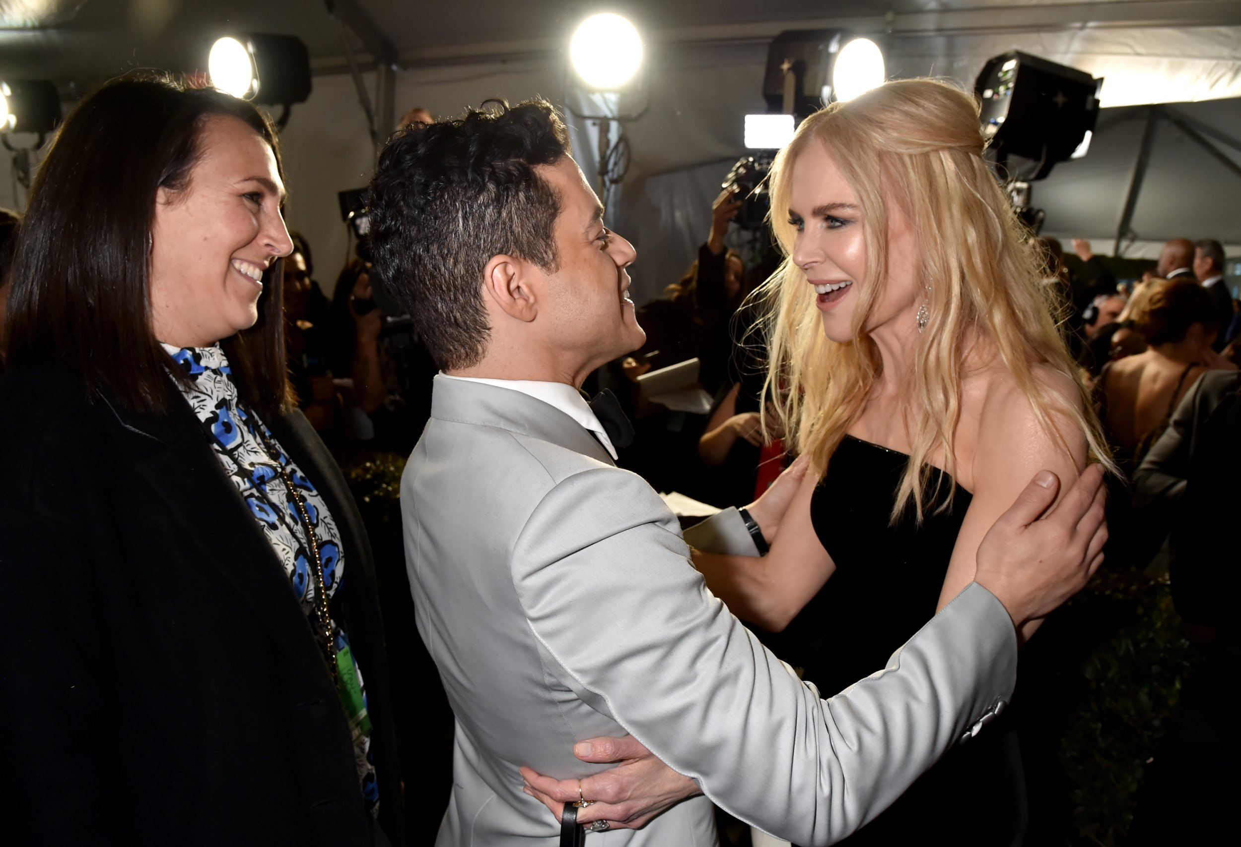 Nicole Kidman and Rami Malek finally embrace at Critics' Choice Awards after she blanks him at Golden Globes 2019