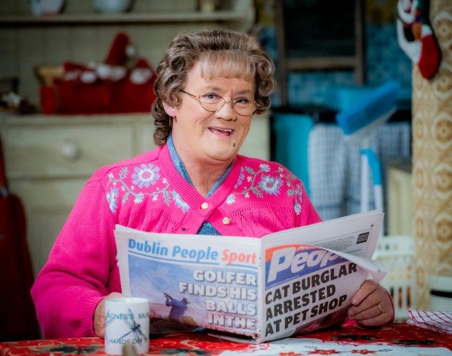 Brendan O'Carroll as Agnes on Mrs Brown's Boys