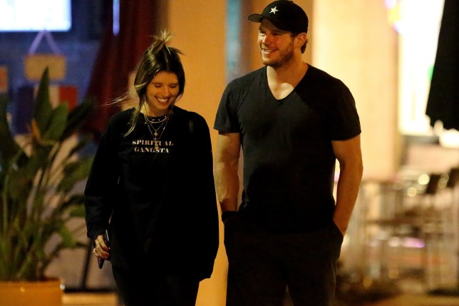 Christ Pratt laughs with his new flame Katherine Schwarzenegger after dinner. 29 Aug 2018 Pictured: Chris Pratt and Katherine Schwarzenegger. Photo credit: MB / MEGA TheMegaAgency.com +1 888 505 6342