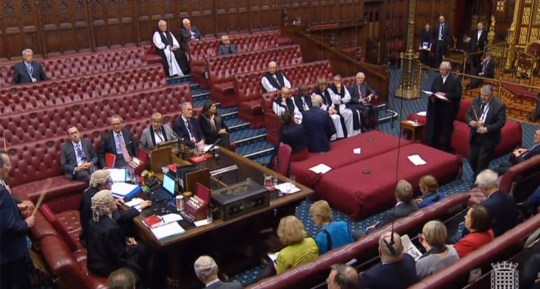 House of Lords. Monday 14 January 2019 (Picture: Parliament.tv)