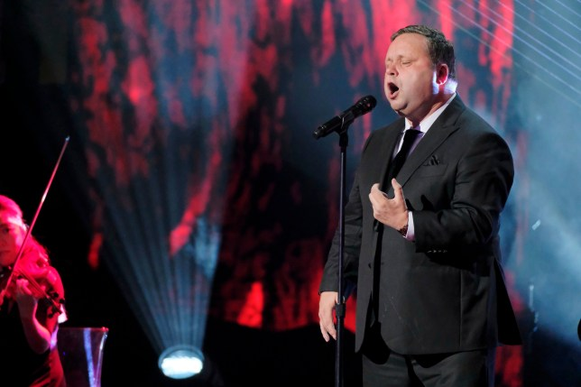 "AMERICA'S GOT TALENT: THE CHAMPIONS -- ""The Champions Three"" Episode 103 -- Pictured: Paul Potts -- (Photo by: Trae Patton/NBC/NBCU Photo Bank via Getty Images)"