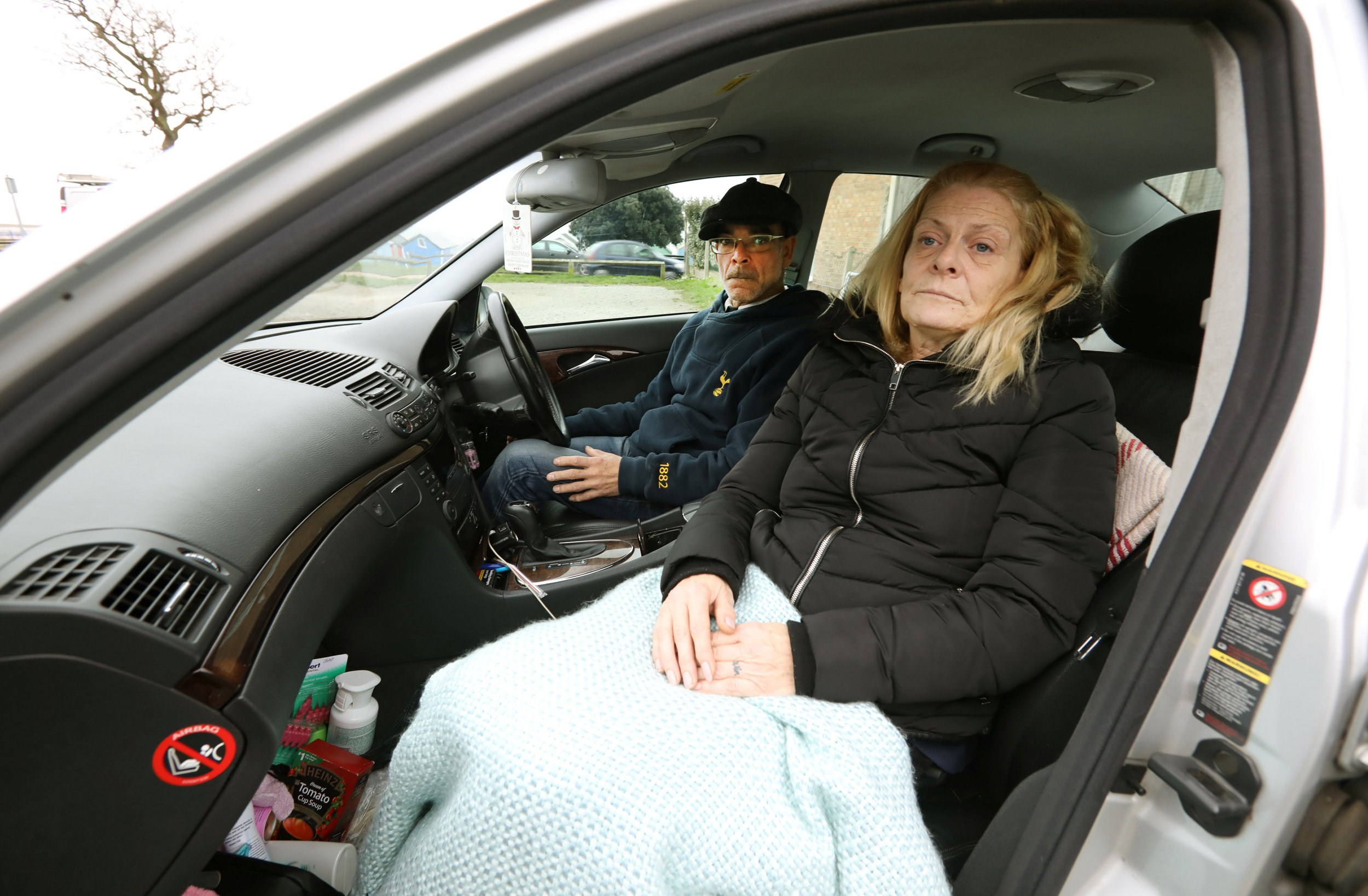 Couple forced to live in car because they can't afford rent