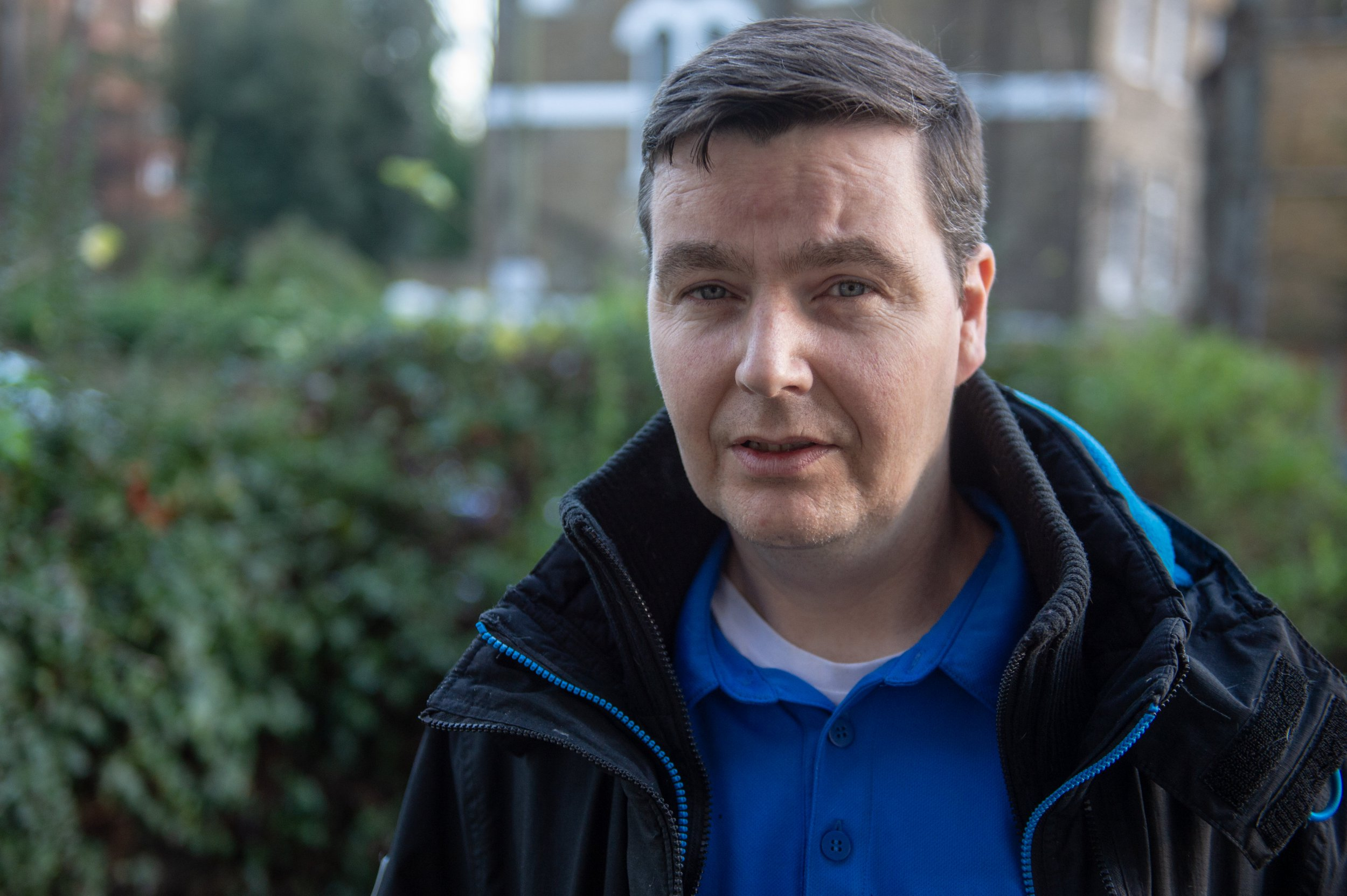 """Carer John McDermott,47, who hasn't had a carers allowance for six months but has been ordered to pay ??2500 in housing benefit Islington, London 17 January 2019See National News story NNtuna.A son who spends 18 hours a day caring for his unwell parents said he is """"screaming for help"""" before the """"backbreaking work"""" sends him to an early grave. John McDermott has been living off a can of tuna a day and said he can't even afford to replace the clothes stained by his incontinent father. For six months, the 47-year-old was trying to make ends meet without receiving his Carers Allowance from the Department of Work and Pensions (DWP) - cutting down his weekly income to ??93.This made it even more challenging to look after his 77-year-old parents - Patrick who suffers from severe incontinence and dementia and Katherine who was diagnosed with schizophrenia 40 years ago."""