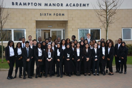 The 41 students from Brampton Manner who have been awarded places at Oxford and Cambridge Permission: Yes Contact: Sam Dobin - sam.dobin@bramptonmanor.org / 07737219318