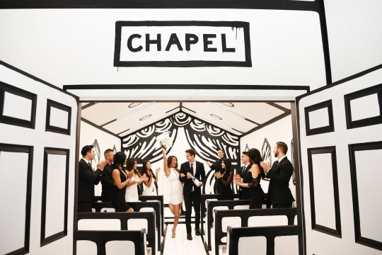 You can get married at this amazing insta-friendly chapel. Couples who want to get married to spruce up their Instagram feed can soon do so at this black-and-white chapel. The ?Til Death Do Us Part? installation, which opens on Friday at the Palms Casino Resort in Las Vegas, was dreamed up by graphic designer Joshua Vides.