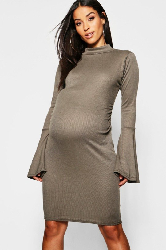 7b24b600bd5f Boohoo has been accused of using pillows to plump up models to advertise  their maternity clothes