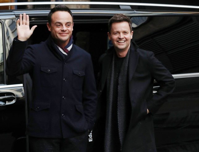 LONDON, ENGLAND - JANUARY 18: Ant McPartlin and Declan Donnelly arrive at The Royal Palladium for Britain's Got Talent auditions on January 18, 2019 in London, England. (Photo by Neil Mockford/GC Images)