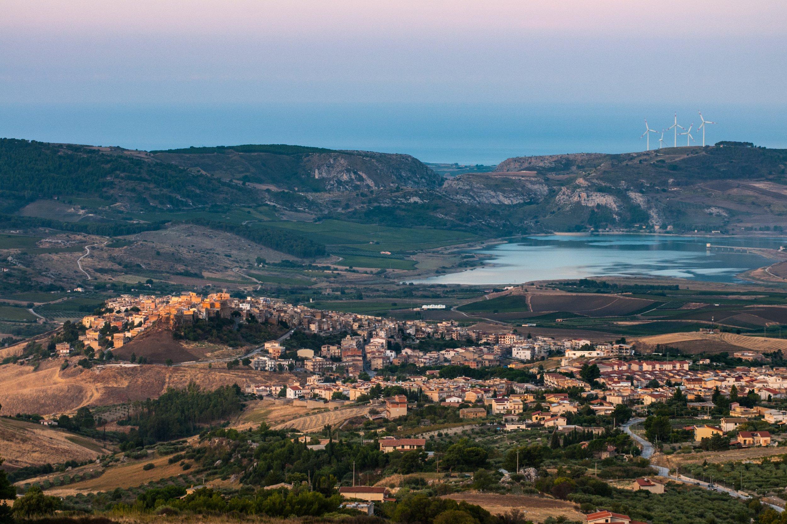 A view of the village of Sambuca di Sicilia, Italy. Sambuca di Sicilia is a municipality in the Province of Agrigento in the Italian region Sicily,; Shutterstock ID 1031137342; Purchase Order: -
