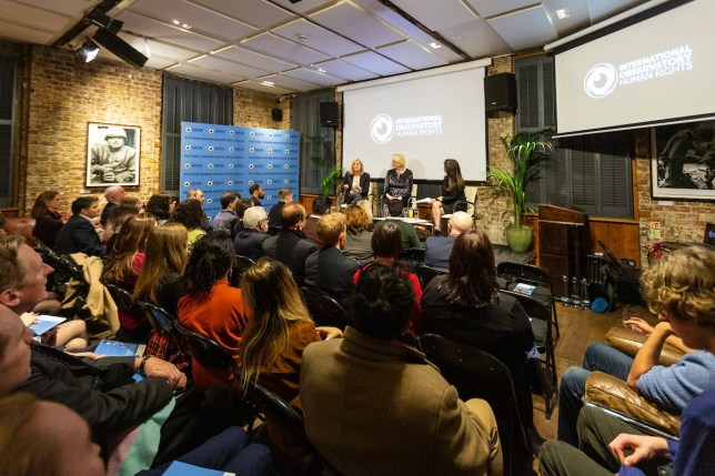 International Observatory Human Rights. Anniversary celebration and launch of the first Human Rights TV Channel. 15th January 2019. Frontline Club. London. UK. Photo: Zute Lightfoot