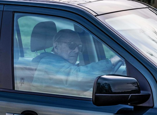 Copyright Albanpix.com-Picture by Mathew Usher The Duke of Edinburgh driving his Land Rover Freelander on the Sandringham Estate Norfolk 2 days after his crash. 19/1/19