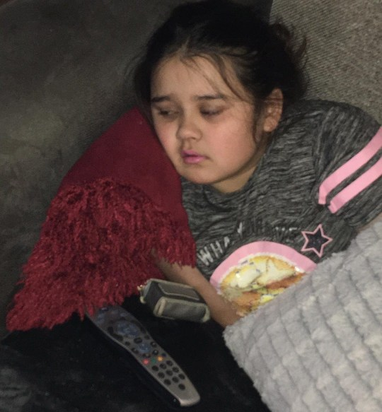 This 11-year-old girl says she's in so much pain she doesn't want to live to her 12th birthday next week. Imarni Chowdhury suffers from interstitial cystitis and is probably the only girl in Lincolnshire to be afflicted by it, say doctors. caption: Poorly Imarni Chowdhury